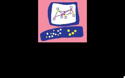 Pink & blue logo