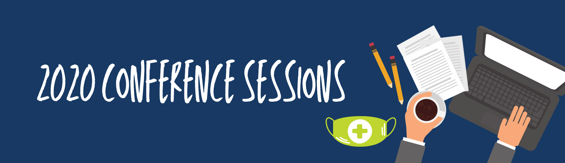 Session heading banner with computer graphic