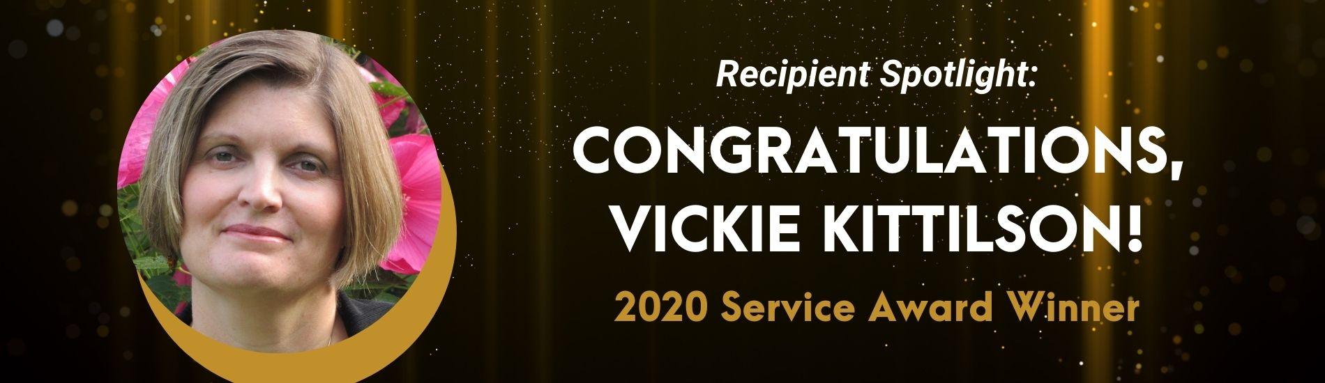 Vickie Kittilson Service Award Winner